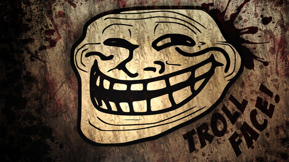 Обои Улыбающееся лицо троллфейс / trollface