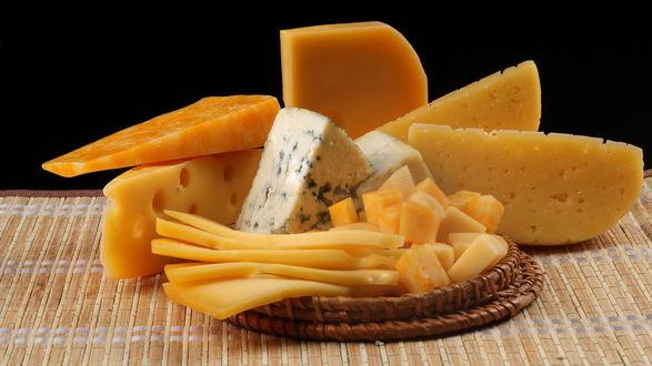 Обои Разные сорта сыра