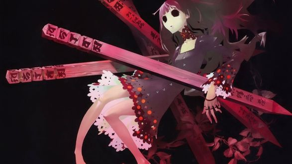 Обои Девушка и колья из аниме 'Shiki'