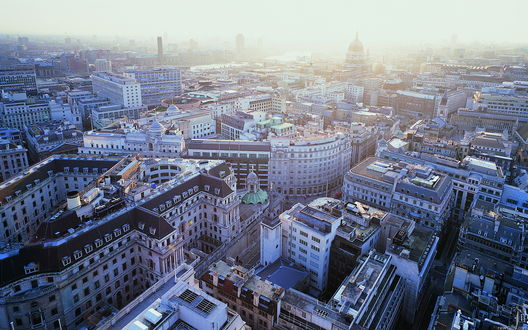 Обои  Великобритания, Лондон вид на St Paul's Cathedral, аэросъемка