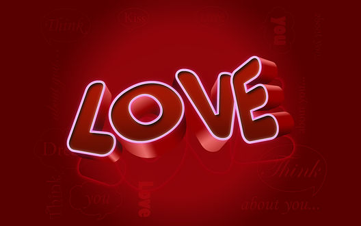 Обои Love (you, think, about you...., kiss)
