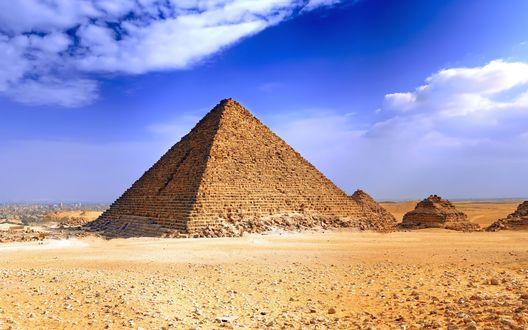 Обои Египетская пирамида (Гиза, Египет)