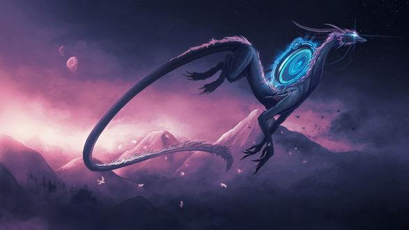 Обои Мистический дракон