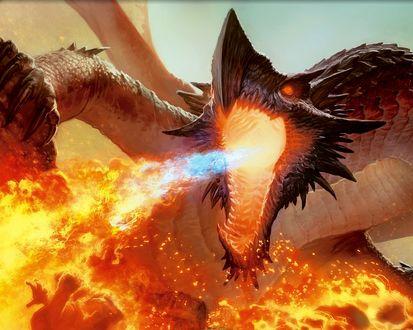 Обои Огнедышащий дракон