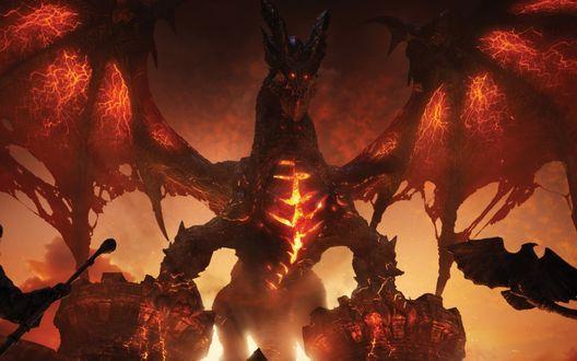 Обои Огненный дракон