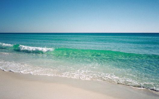 Обои Зеленое прозрачное море