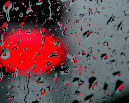 Обои Дождь на стекле