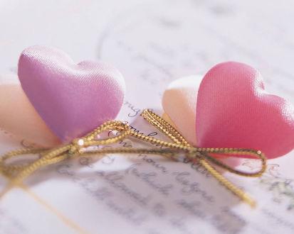 Обои Сердечки