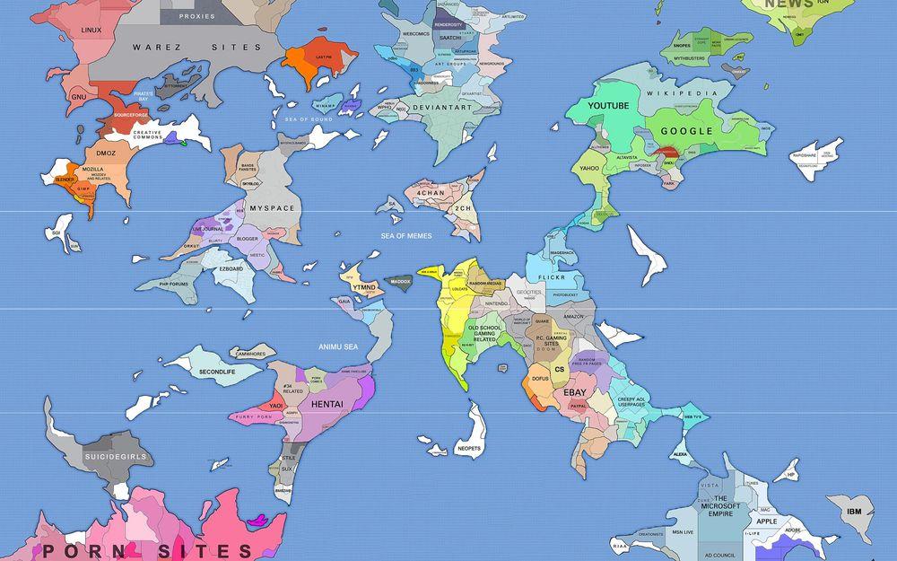 Порно карта мира