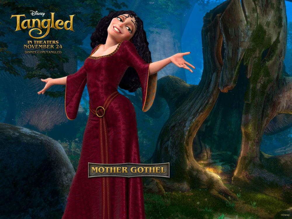 Обои для рабочего стола Злая ведьма Mother Gothel из мультфильма 'Рапунцель' (Tangled in theaters november 24, disney)