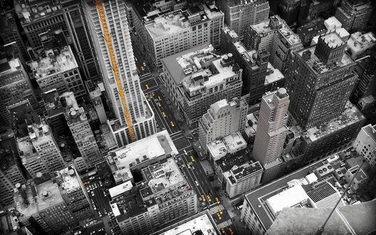 Обои New york / Нью Йорк с высоты птичьего полета