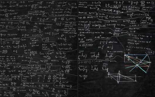 Обои Доска исписана физическими формулами
