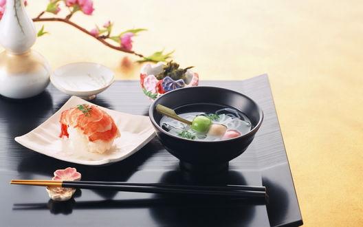 Обои Японская кухня