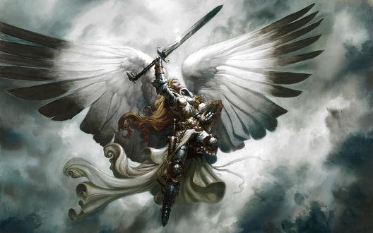 Обои Ангел с мечом