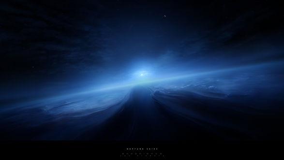 Обои Дорога на Нептуне в тумане  (Neptune skies EXPERIENCE the planets)