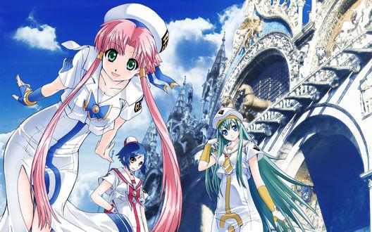 Обои Алиса, Акари и Айко, аниме 'Ария'