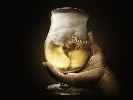 Обои Ураган в стакане пива (Duvel)