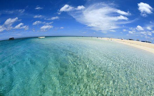 Обои Изумрудный океан