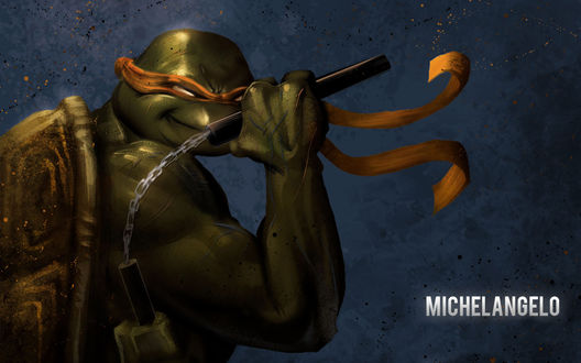 Обои Черепашки ниндзя, Микелянджело / Michelangelo
