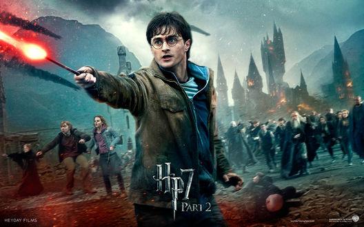 Обои Гарри Поттер во время решающей битвы (Hp7 part2)