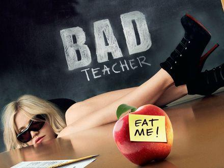 Обои Фильм Очень плохая училка / Bad teacher, в главной роли Кэмерон Диаз (eat me!)