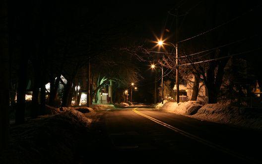 Обои Ночная дорога