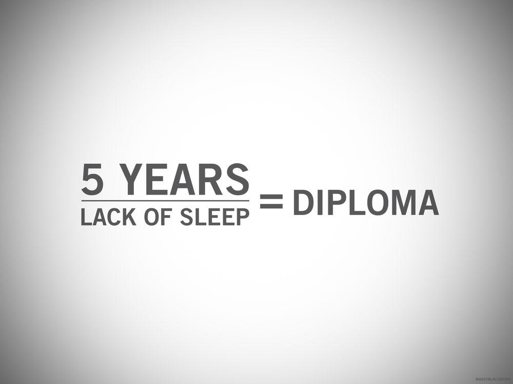 Обои years lack of sleep diploma лет недостаток сна  Обои для рабочего стола 5 years lack of sleep diploma