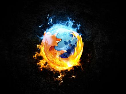 Обои Стилизованный логотип Mozilla Firefox