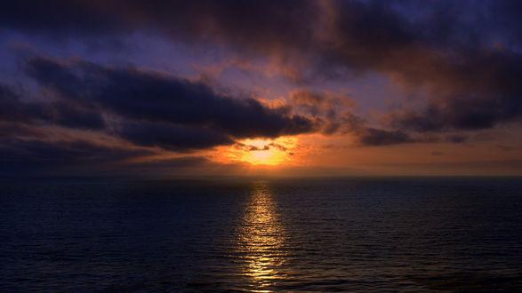 Обои Море на закате
