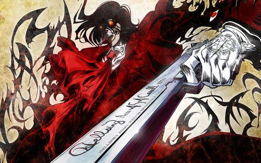 Обои Алукард, аниме Hellsing