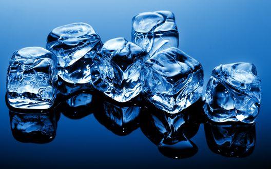 Обои Кубики льда
