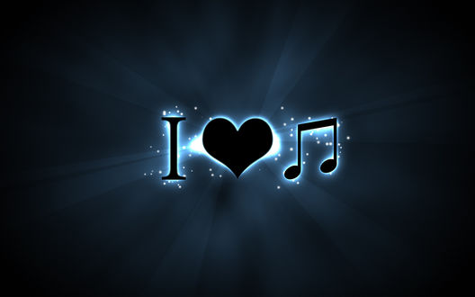 Обои Я люблю музыку / I love Music