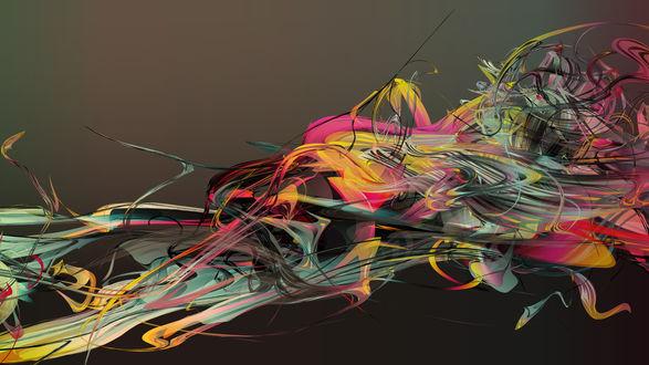 Обои Разноцветная абстракция
