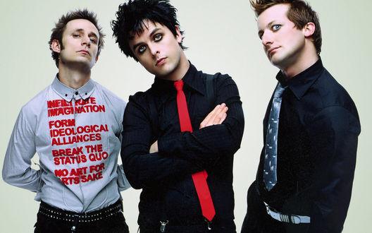 Обои Американская рок-группа Green day
