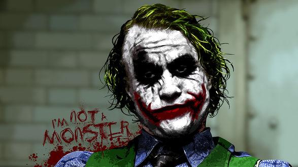 Обои Джокер из фильма «Темный рыцарь» (I'm not a monster / Я - не мностр)
