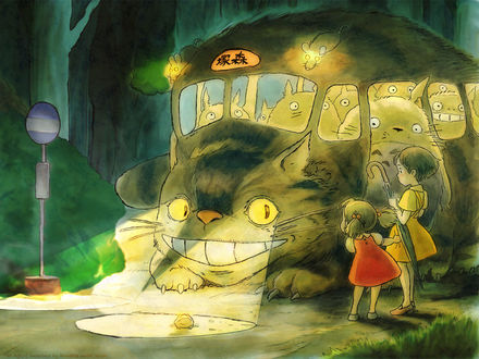 Обои Рисунок по аниме Миядзаки «Мой сосед Тоторо»