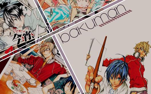 Обои Аниме 'Бакуман' / 'Bakuman'
