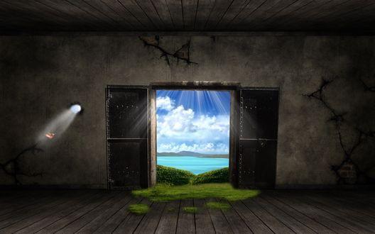 Обои Дверь в прекрасный мир
