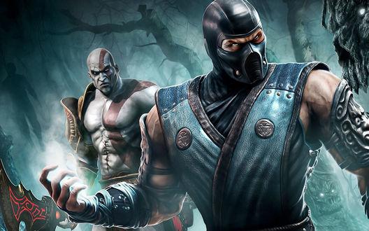 Обои Воины из игры Mortal Kombat / Смертельная битва