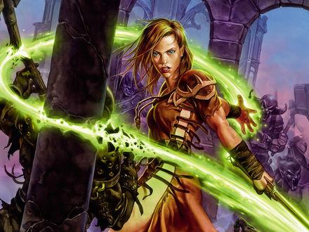 Обои Воительница из игры Магия крови / Dawn of Magic