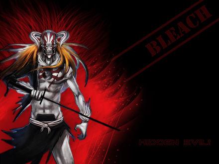 Обои Ичиго Куросаки из аниме 'Bleach / Блич' в форме пустого (Hidden Evil!)
