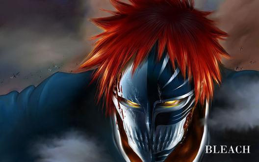 Обои Куросаки Ичиго / Kurasaki Ichigo из аниме 'Блич / Bleach' в форме пустого с маской на все лицо