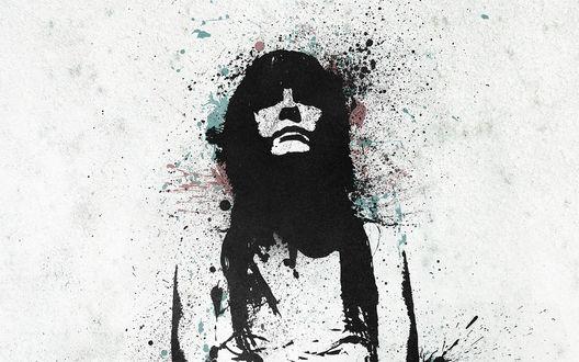Обои Граффити рисунок девушки