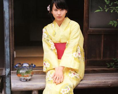 Обои Хорикита Маки / Horikita Maki в кимано