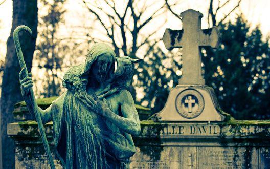 Обои Надгробие
