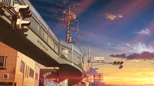 Обои Станция одного из японских городов