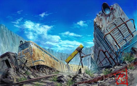 Обои Кладбище поездов