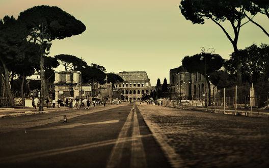 Обои Дорога в Колизей
