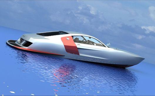 Обои 3D Boat concept на воде