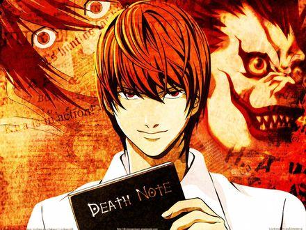 Обои Кира из аниме 'Death Note'